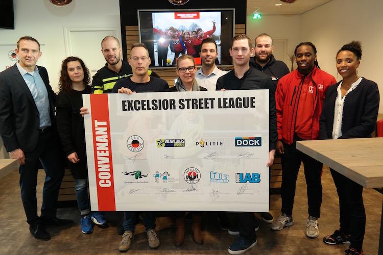 Partners ondertekenen convenant Excelsior Street League